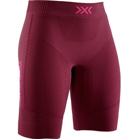 X-Bionic Invent 4.0 Run Speed Pantaloncini Donna, namib red/neon flamingo